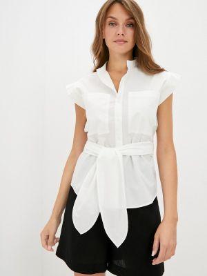 Белая блузка с короткими рукавами элис