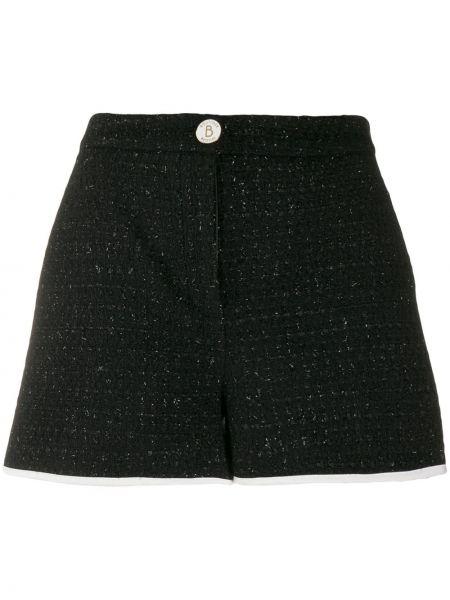 Черные шорты на пуговицах металлические Boutique Moschino