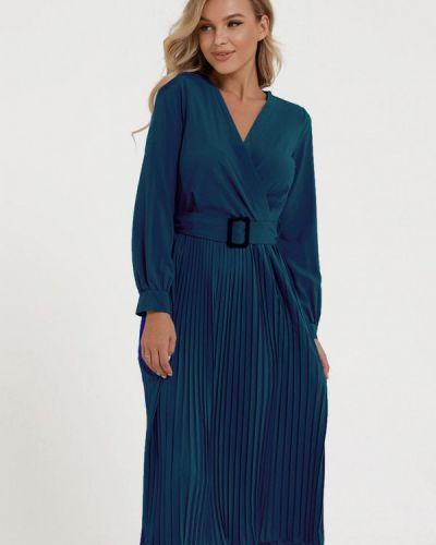 Синее платье с запахом Magnet