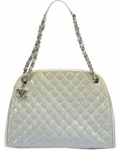 Biała torba na ramię skórzana Chanel Vintage