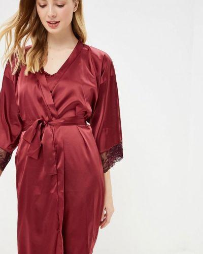 Домашний халат - красный дефиле