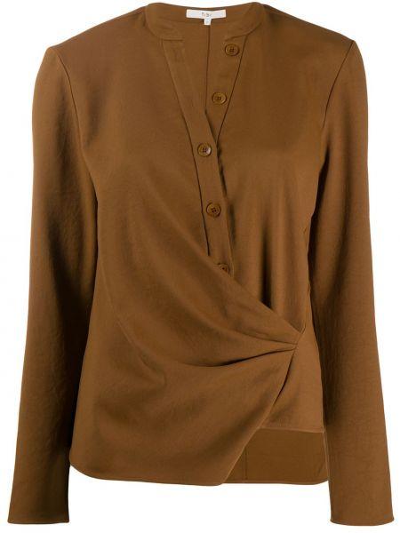 Koszula z długimi rękawami - brązowa Tibi