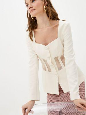 Белый пиджак осенний Self Made