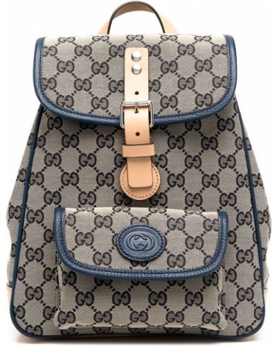 Хлопковый бежевый рюкзак с карманами Gucci Kids
