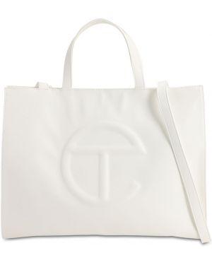 Biała torba na ramię skórzana Telfar
