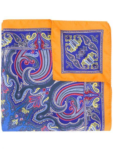 Облегченная шелковый синий платок Etro