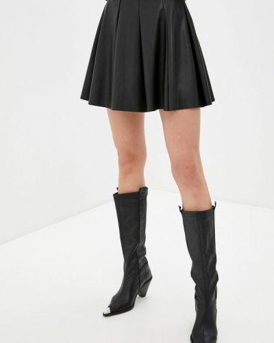 Черная кожаная юбка Haily's