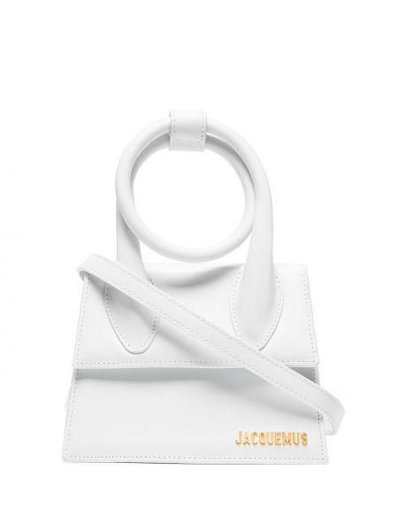 Biała torba na ramię skórzana Jacquemus