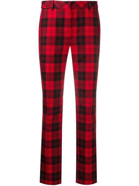 Красные брюки с карманами с высокой посадкой из вискозы Mulberry