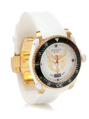 Biały zegarek za pełne Gucci