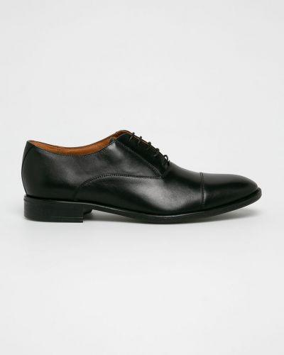 Кожаные туфли на каблуке на шнуровке Gino Rossi