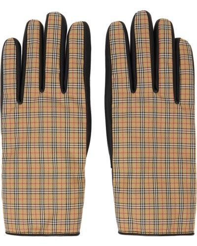 Z kaszmiru rękawiczki - białe Burberry
