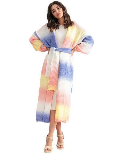Fioletowy sweter z paskiem Fobya