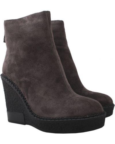 Ботинки на платформе - серые Brocoly