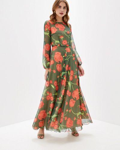 Вечернее платье осеннее зеленый Irina Vladi
