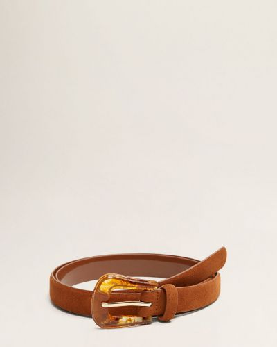 Ремень кожаный из полиэстера Mango