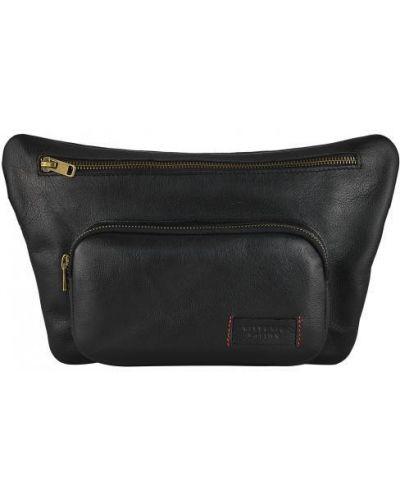 Кожаная поясная сумка - черная Vittorio Safino