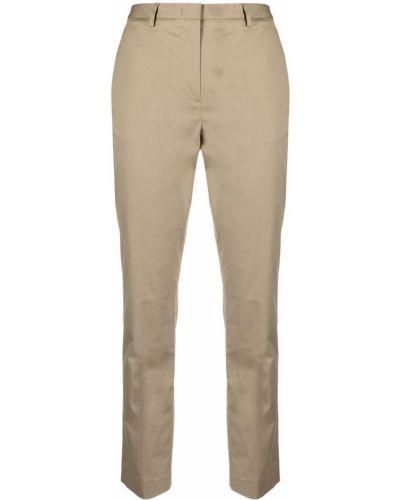 Хлопковые брюки с потайной застежкой Lardini