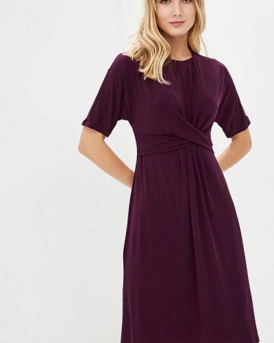 Платье осеннее фиолетовый Iwie