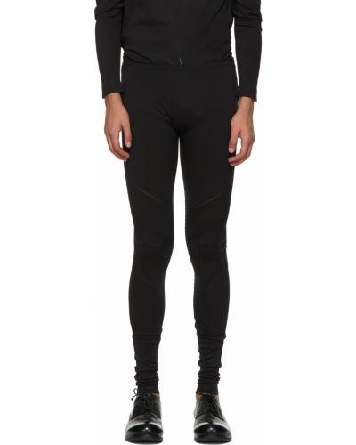 Czarne legginsy z nylonu 132 5. Issey Miyake
