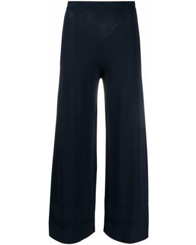 Синие с завышенной талией укороченные брюки с поясом D.exterior