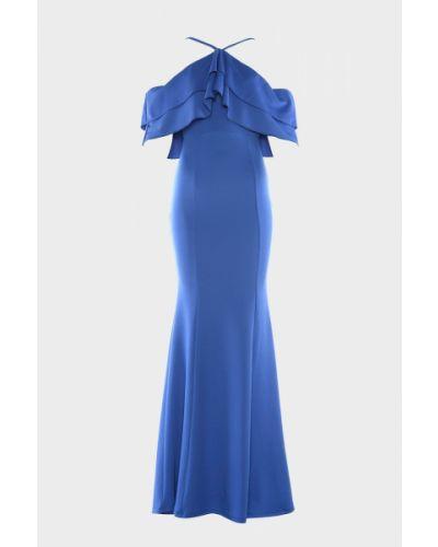 Niebieska sukienka wieczorowa Trendyol