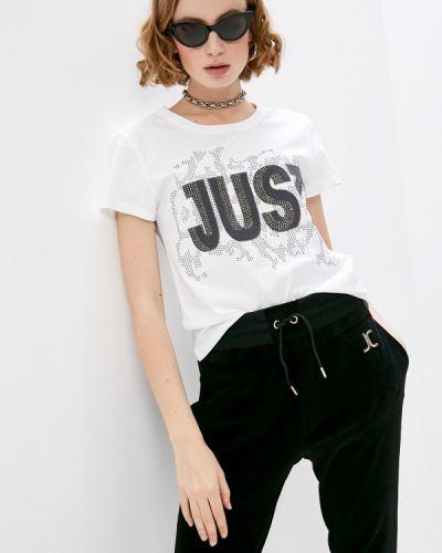 Белая футболка с короткими рукавами Just Cavalli