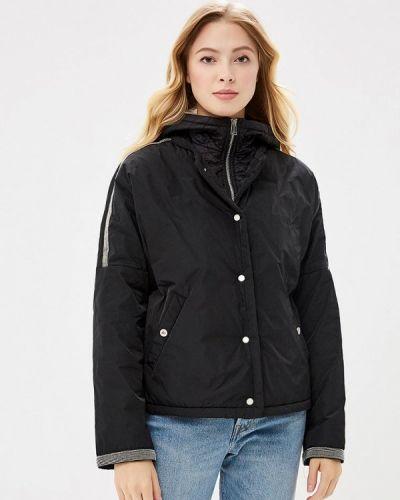 Утепленная куртка демисезонная черная Cudgi