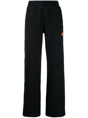 Флисовые спортивные брюки - черные Heron Preston
