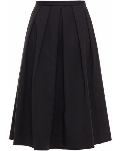 Czarna spódnica midi bawełniana Tibi