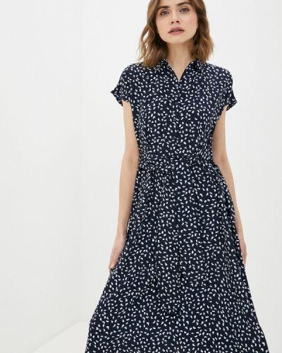 Прямое синее платье Ostin