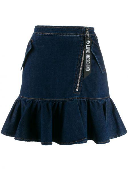 Spódnica mini dżinsowa ołówkowa Love Moschino