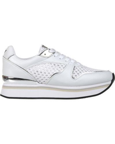 Кожаные кроссовки - белые Emporio Armani