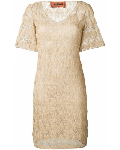 Платье мини с V-образным вырезом с вырезом Missoni