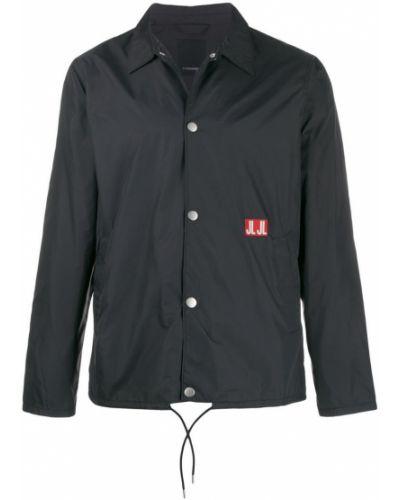 Куртка на кнопках - черная J.lindeberg
