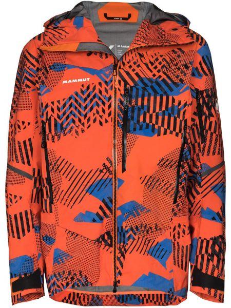 Куртка с капюшоном - оранжевая Mammut