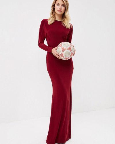 Вечернее платье осеннее красный Trendyangel