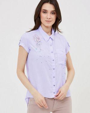 Рубашка с коротким рукавом фиолетовый D'she