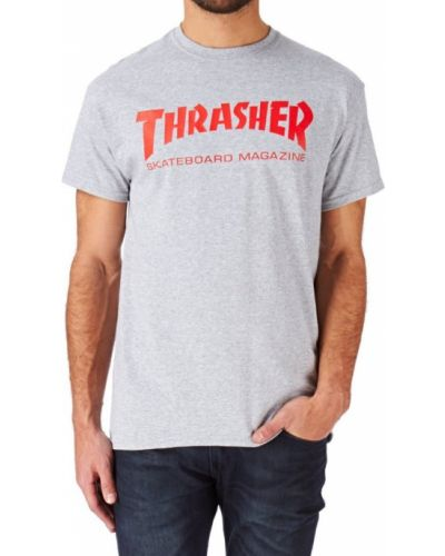 Серая футболка Thrasher