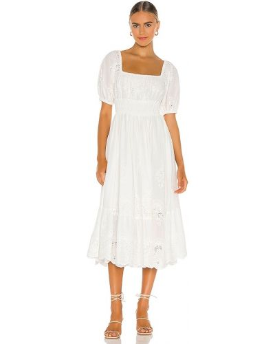 Biała sukienka długa skórzana do pracy Spell & The Gypsy Collective