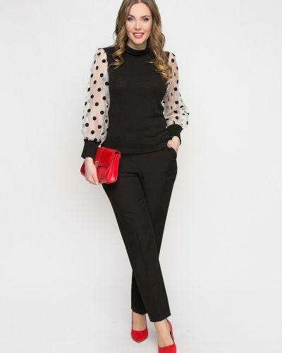 С рукавами трикотажная блузка с воротником Diolche