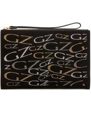 Skórzana torba czarny szary Giuseppe Zanotti