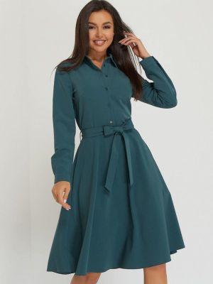 Зеленое зимнее платье A.karina