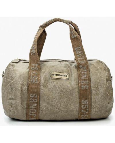 Бежевая дорожная сумка David Jones