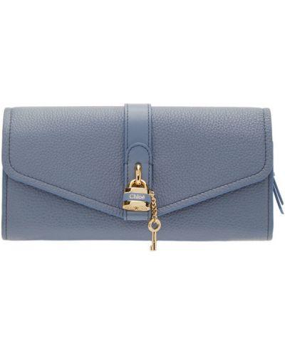 Skórzany portfel skórzany złoto z kieszeniami wytłoczony Chloe