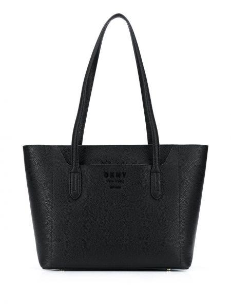 Кожаная сумка круглая сумка-тоут Dkny