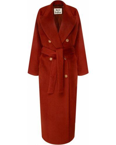 Длинное пальто пальто-халат шерстяное Acne Studios