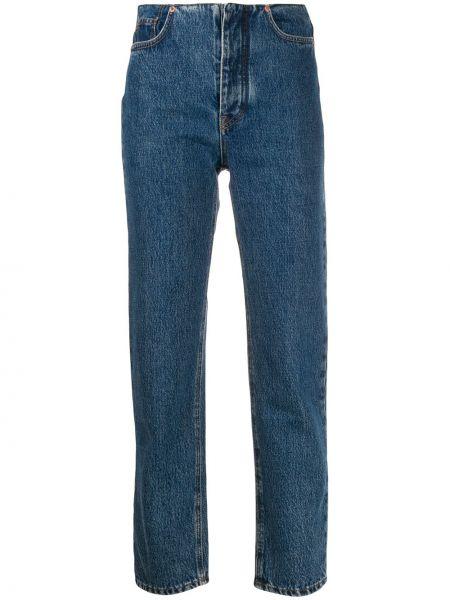 Прямые джинсы с завышенной талией - синие J.lindeberg