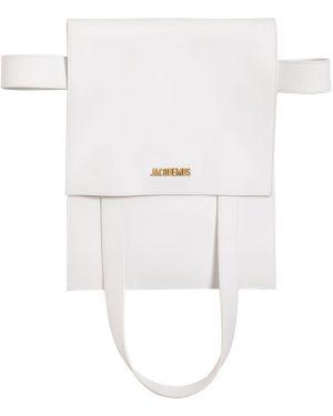 Кожаная сумка поясная с пряжкой Jacquemus