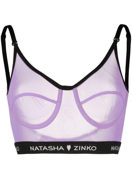 Фиолетовый бюстгальтер на бретелях эластичный Natasha Zinko